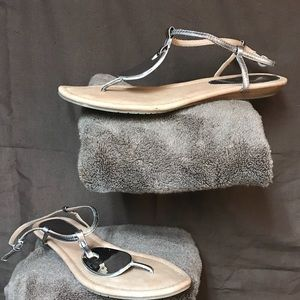 a.n.a. A New Approach silver sandals size 10M